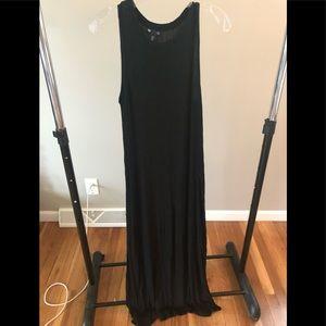 Medium Sleeveless Black Gap Maxi Dress